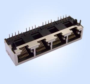 HL5602S-1X4- 10P8C Shielded