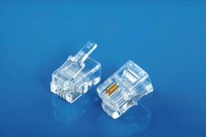 Modular Plug 4P2C Flat Cable Entry