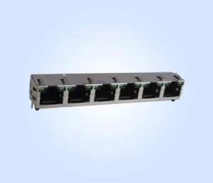 56L Side Entry PCB JACK RJ45 1X6 LED