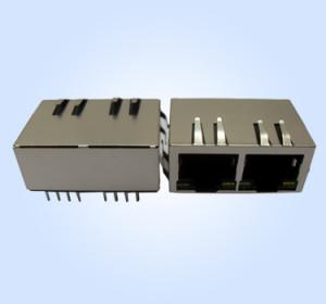 Tab Down Integrated Magnetic RJ45 Modular Jack
