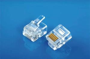 Modular Plug 6P6C Flat Cable Entry