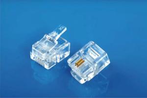 Modular Plug 6P2C Round Cable Entry