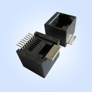 Vertical Modular Jack (SMT)Surface Mounted Technology