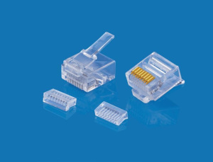 Modular Plug 8P8C Short Body Two Pieces Single Layer OD1.0mm
