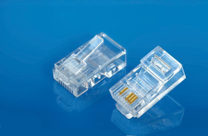 Modular Plug 8P4C Flat Cable Entry
